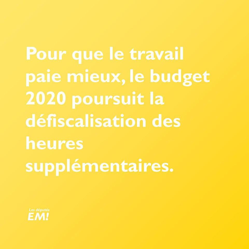 budget-2020-défiscalisation-heures-supplémentaires