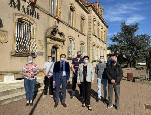 Rencontre avec Sylvie Lamarque , Maire de Sainte-Marie-aux-Chênes et plusieurs de ses adjoints