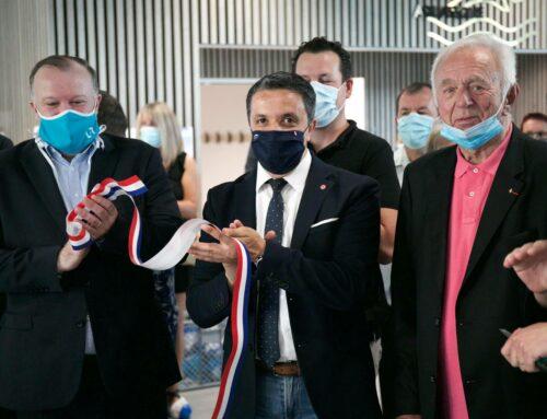Inauguration de l'Aquarives à Hagondange